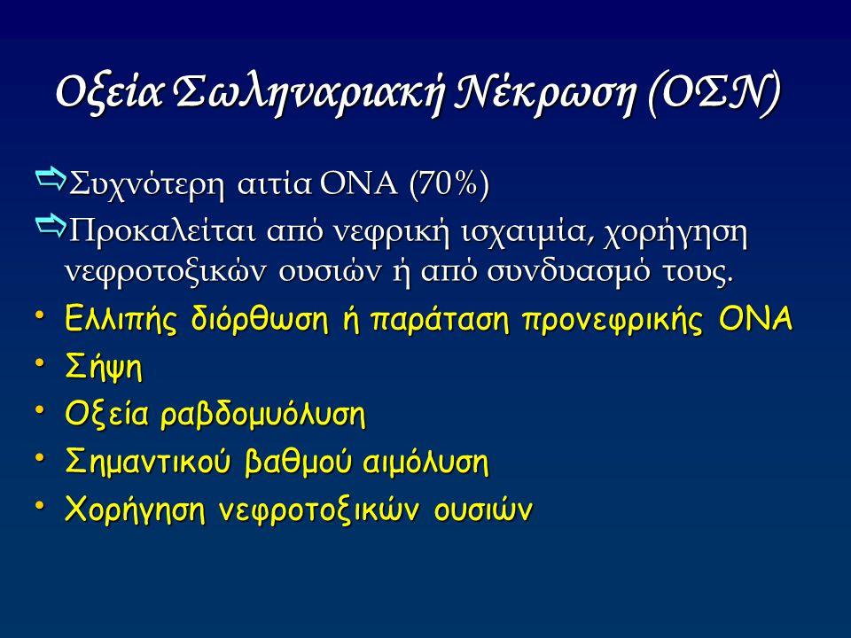 Οξεία Σωληναριακή Νέκρωση (ΟΣΝ)
