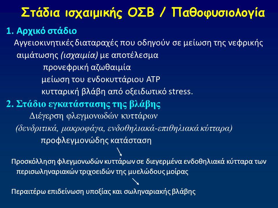 Στάδια ισχαιμικής ΟΣΒ / Παθοφυσιολογία