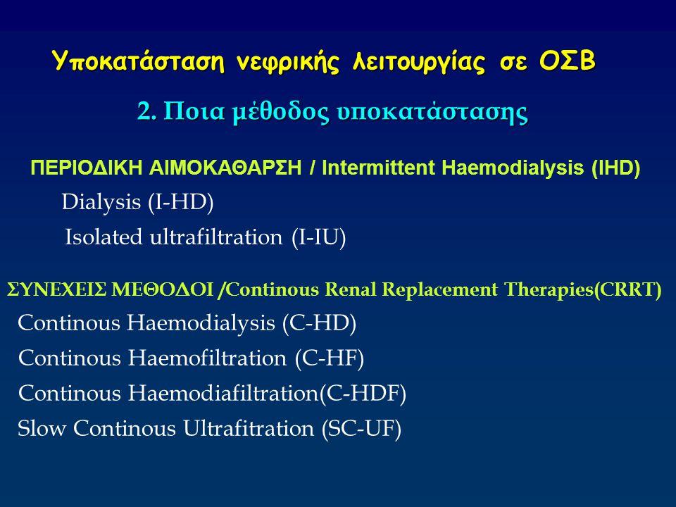 Υποκατάσταση νεφρικής λειτουργίας σε ΟΣΒ