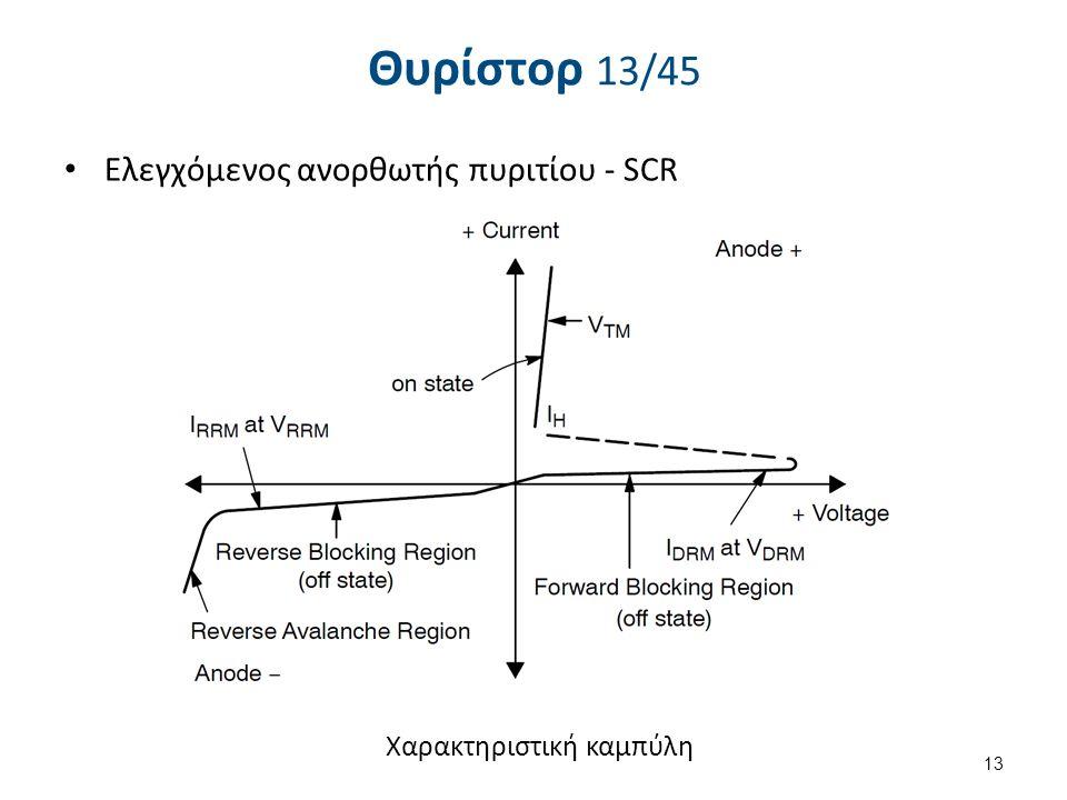 Θυρίστορ 14/45 Eλεγχόμενος ανορθωτής πυριτίου - SCR