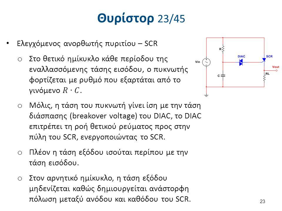Θυρίστορ 24/45 Eλεγχόμενος ανορθωτής πυριτίου – SCR