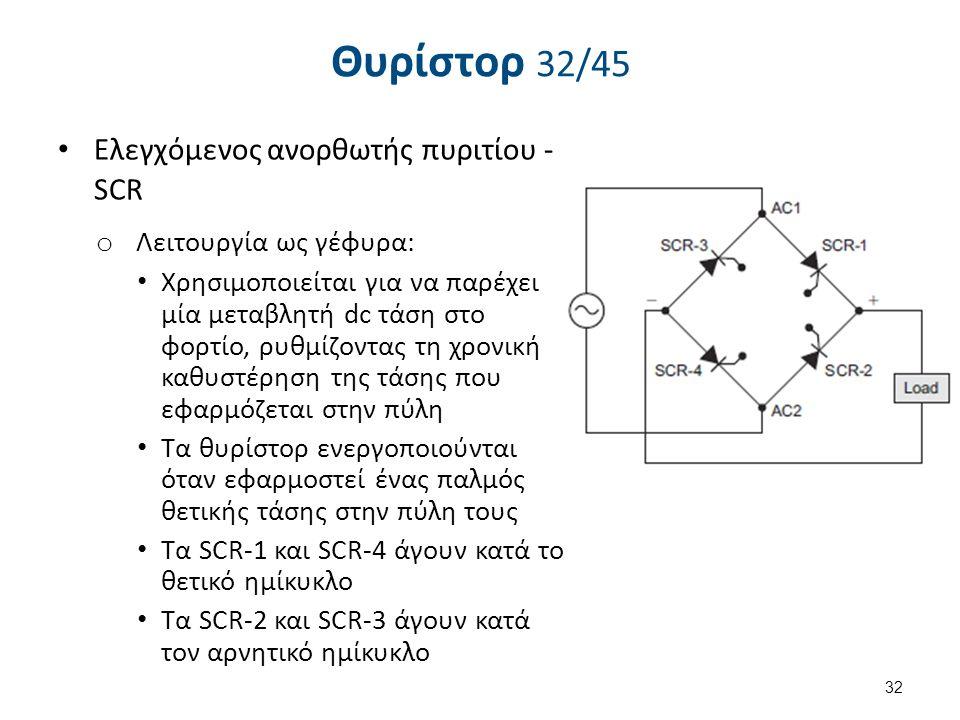 Θυρίστορ 33/45 Eλεγχόμενος ανορθωτής πυριτίου - SCR