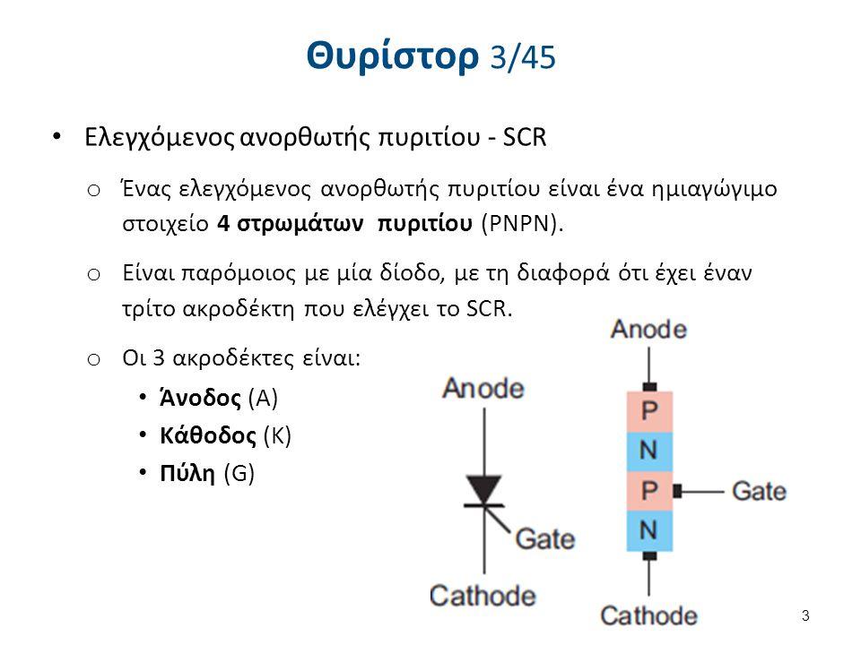 Θυρίστορ 4/45 Eλεγχόμενος ανορθωτής πυριτίου - SCR