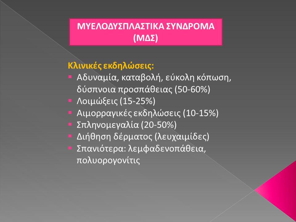 ΜΥΕΛΟΔΥΣΠΛΑΣΤΙΚΑ ΣΥΝΔΡΟΜΑ (ΜΔΣ)