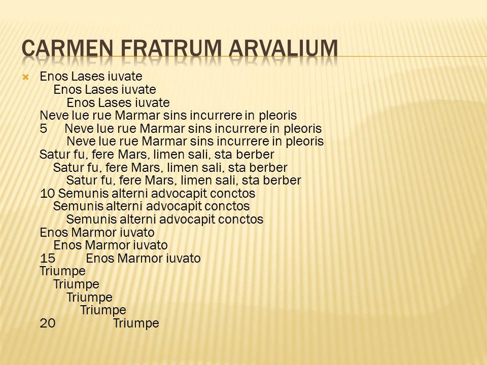 Carmen Fratrum Arvalium