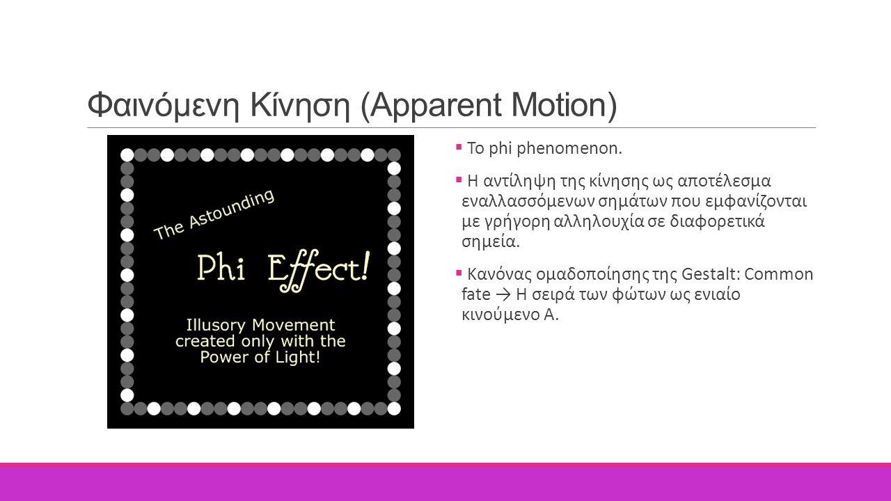 Φαινόμενη Κίνηση (Apparent Motion)