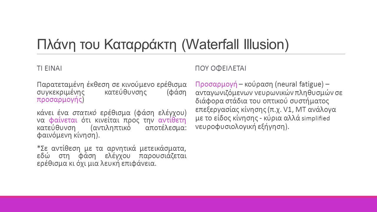 Πλάνη του Καταρράκτη (Waterfall Illusion)