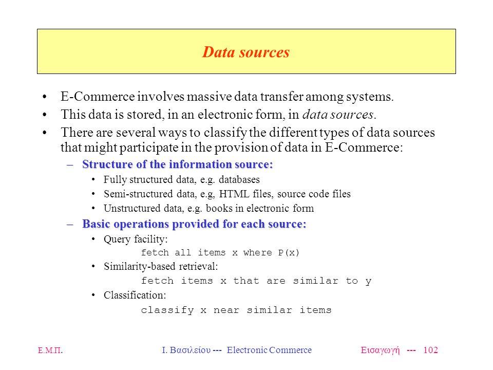 Ι. Βασιλείου --- Electronic Commerce Εισαγωγή --- 102