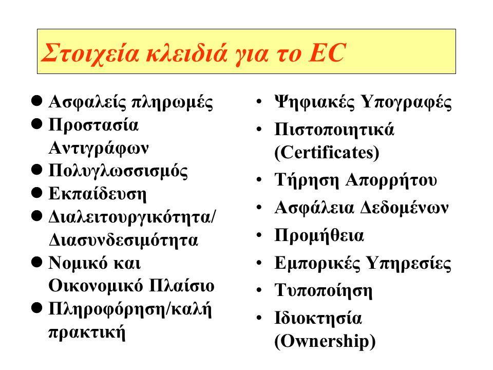 Στοιχεία κλειδιά για το EC