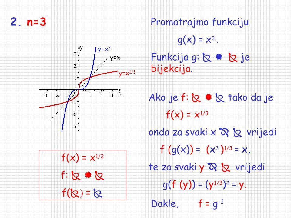 2. n=3 Promatrajmo funkciju g(x) = x3 .