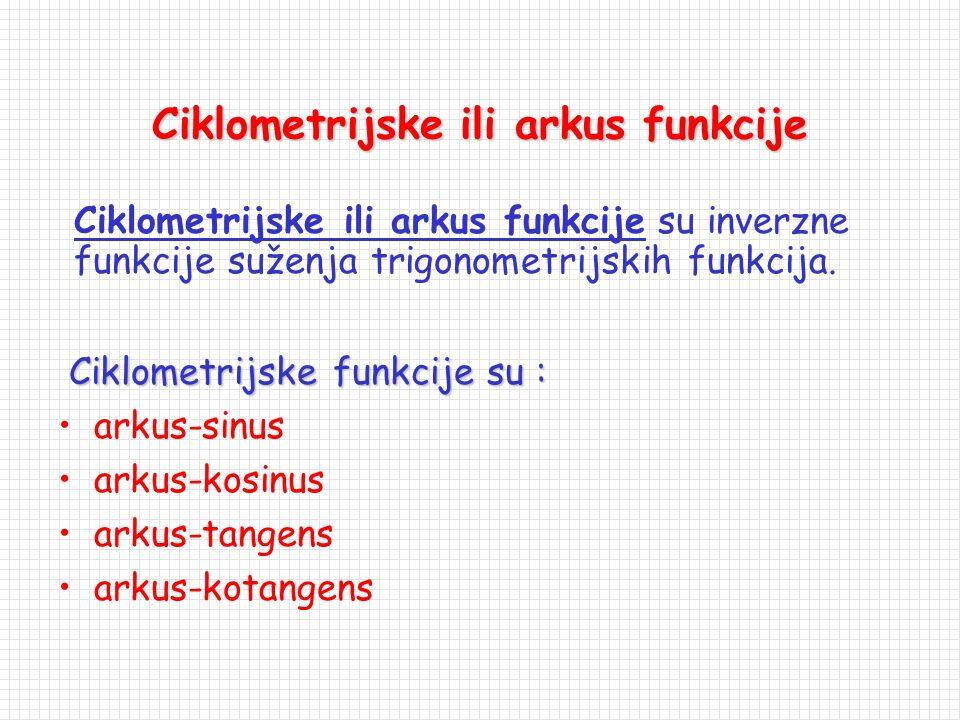 Ciklometrijske ili arkus funkcije