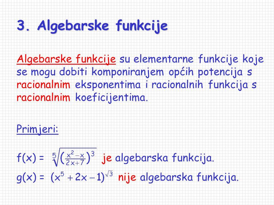 3. Algebarske funkcije
