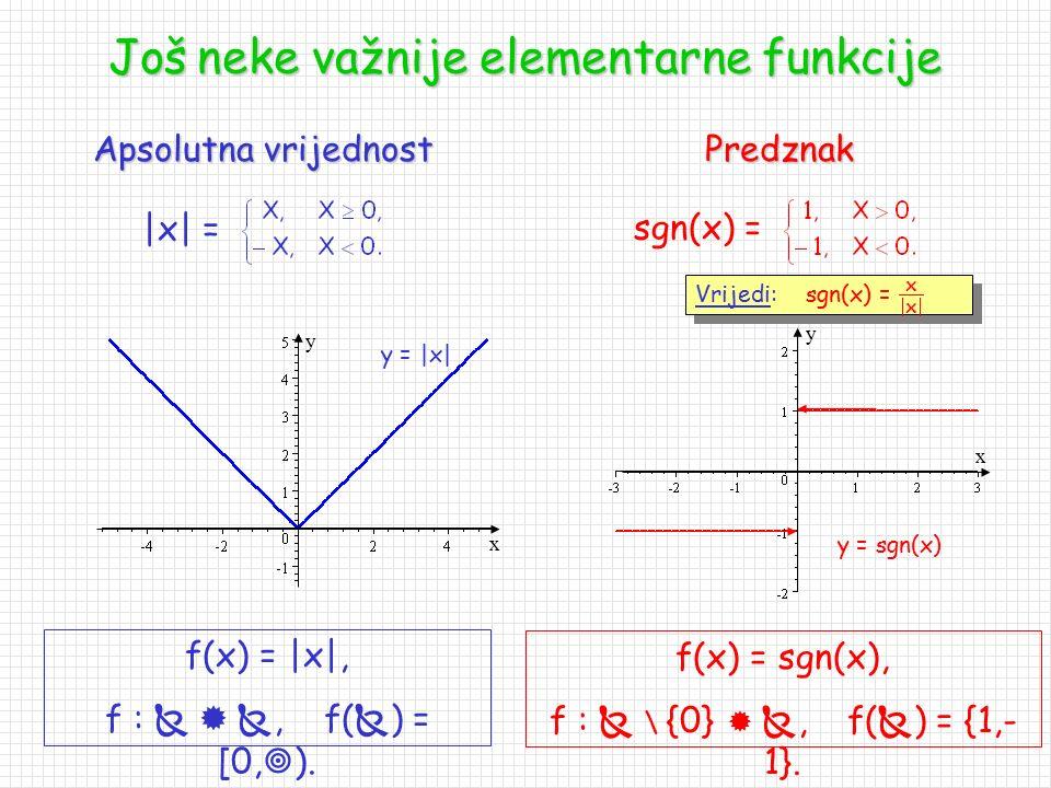 Još neke važnije elementarne funkcije