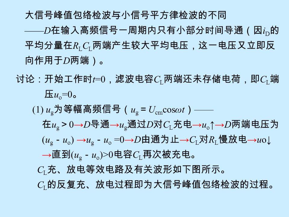 大信号峰值包络检波与小信号平方律检波的不同