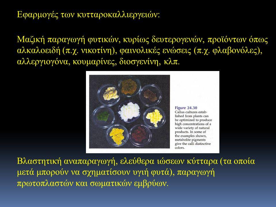 Εφαρμογές των κυτταροκαλλιεργειών: