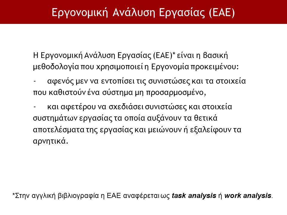 Εργονομική Ανάλυση Εργασίας (ΕΑΕ)