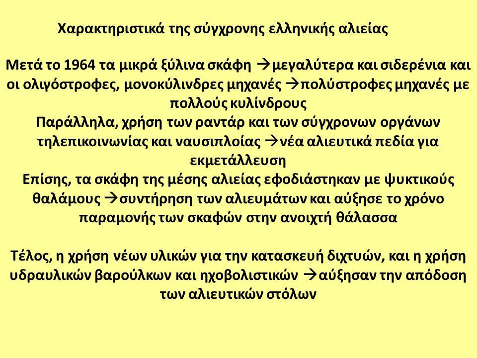 Χαρακτηριστικά της σύγχρονης ελληνικής αλιείας