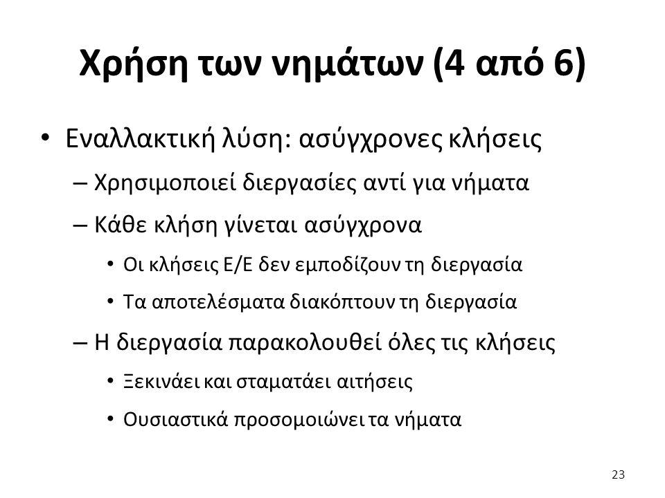 Χρήση των νημάτων (4 από 6)