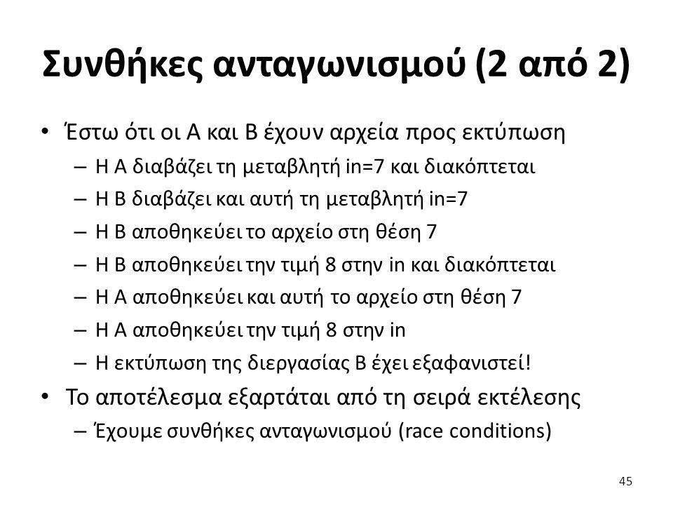 Συνθήκες ανταγωνισμού (2 από 2)