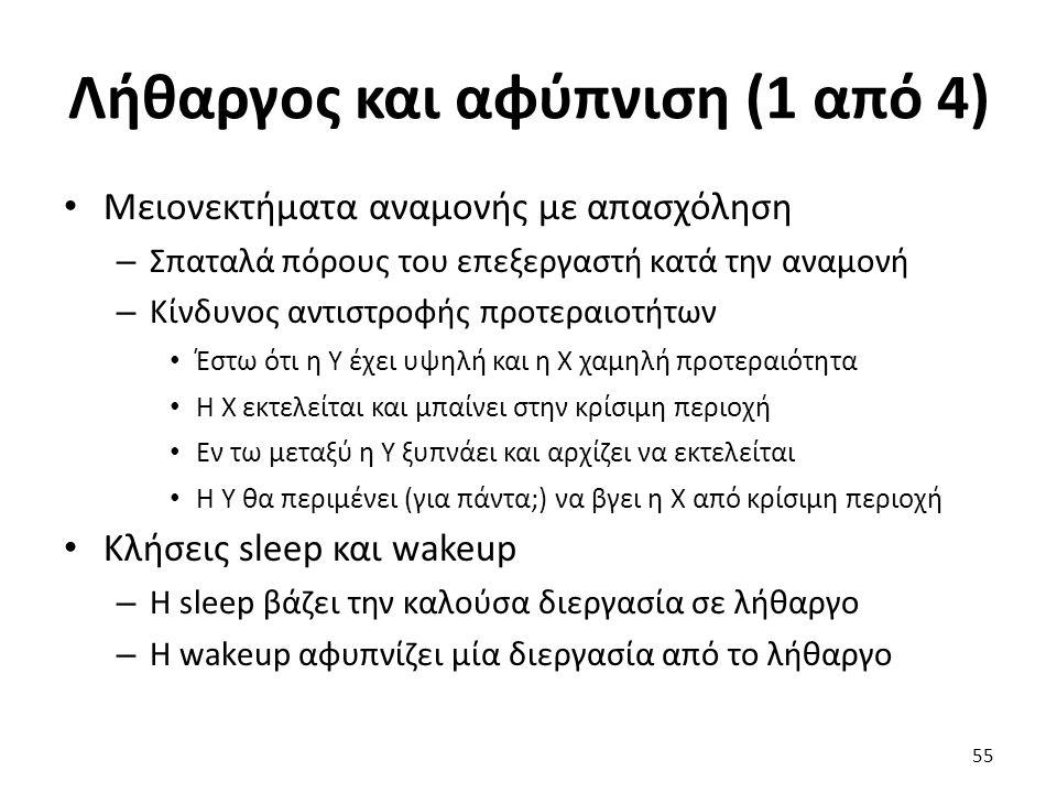 Λήθαργος και αφύπνιση (1 από 4)
