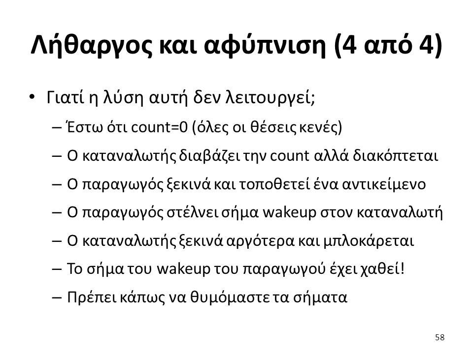 Λήθαργος και αφύπνιση (4 από 4)