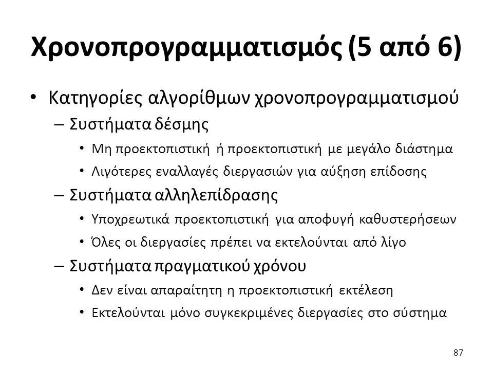 Χρονοπρογραμματισμός (5 από 6)