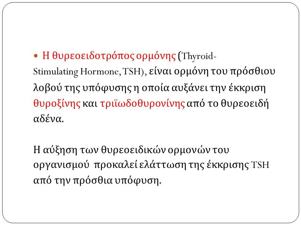 Η θυρεοειδοτρόπος ορμόνης (Thyroid-