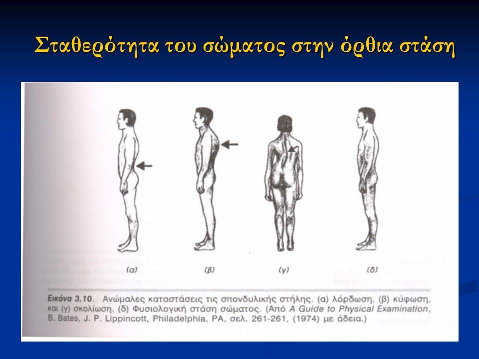 Σταθερότητα του σώματος στην όρθια στάση