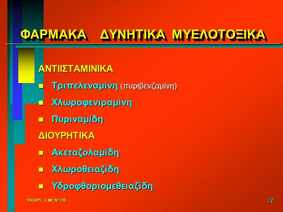 ΦΑΡΜΑΚΑ ΔΥΝΗΤΙΚΑ ΜΥΕΛΟΤΟΞΙΚΑ