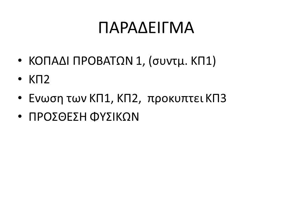 ΠΑΡΑΔΕΙΓΜΑ ΚΟΠΑΔΙ ΠΡΟΒΑΤΩΝ 1, (συντμ. ΚΠ1) ΚΠ2