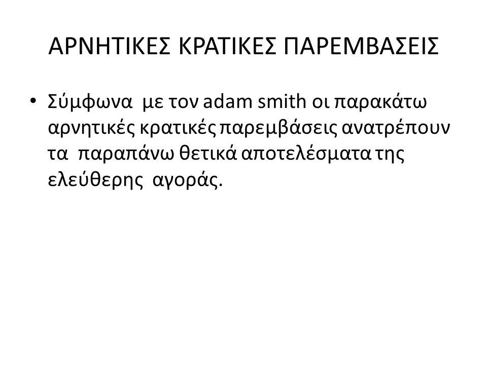 ΑΡΝΗΤΙΚΕΣ ΚΡΑΤΙΚΕΣ ΠΑΡΕΜΒΑΣΕΙΣ
