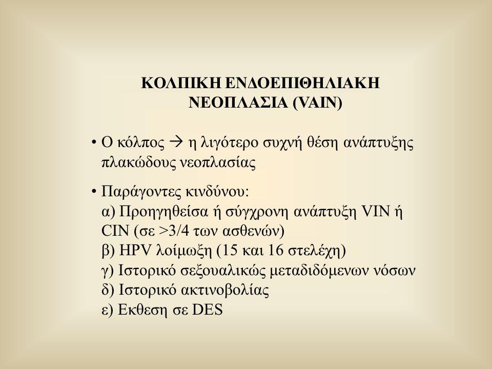 ΚΟΛΠΙΚΗ ΕΝΔΟΕΠΙΘΗΛΙΑΚΗ ΝΕΟΠΛΑΣΙΑ (VAIN)