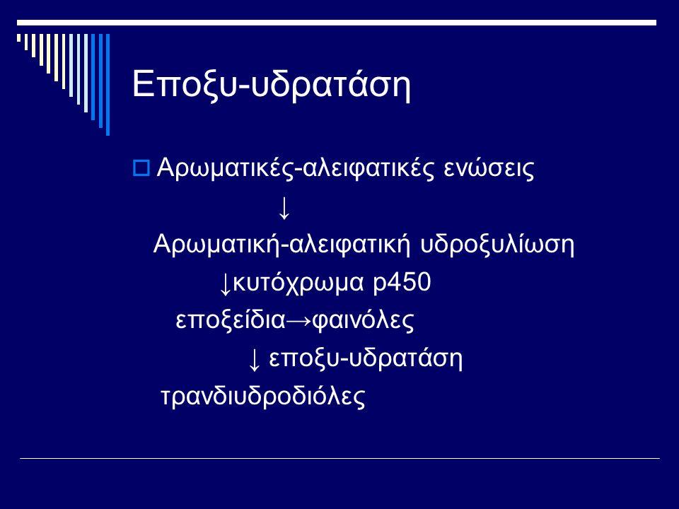 Εποξυ-υδρατάση Αρωματικές-αλειφατικές ενώσεις ↓