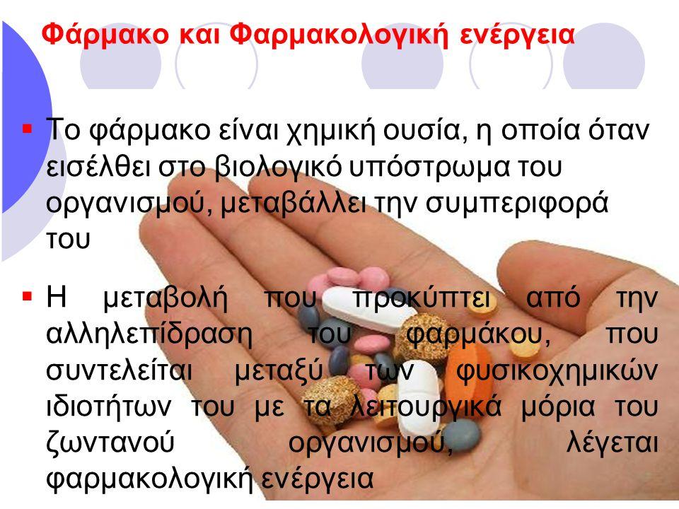 Φάρμακο και Φαρμακολογική ενέργεια