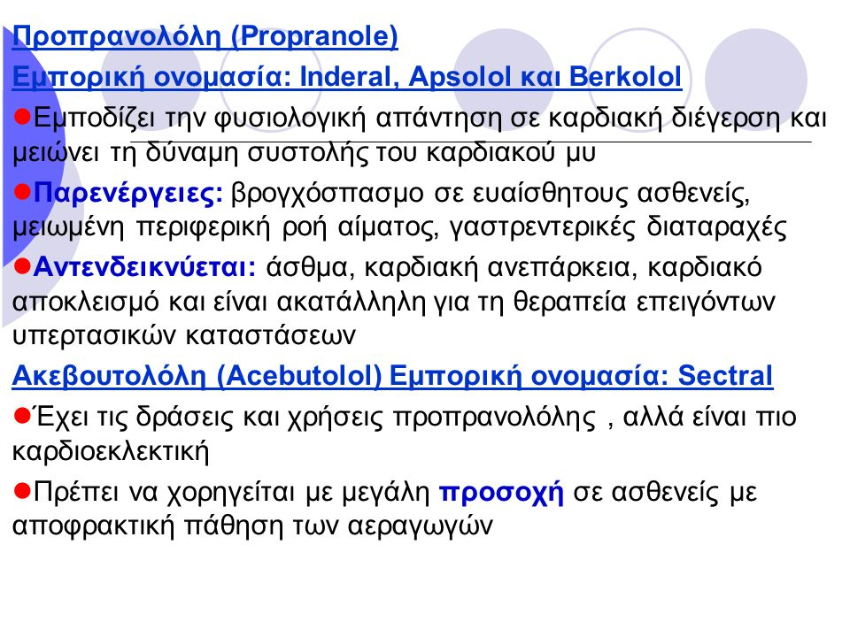 Προπρανολόλη (Propranole)