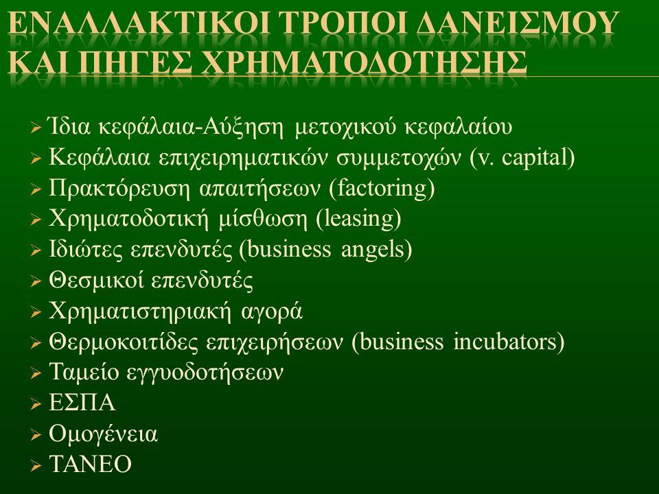 Εναλλακτικοι τροποι δανεισμου και πηγεσ χρηματοδοτησησ