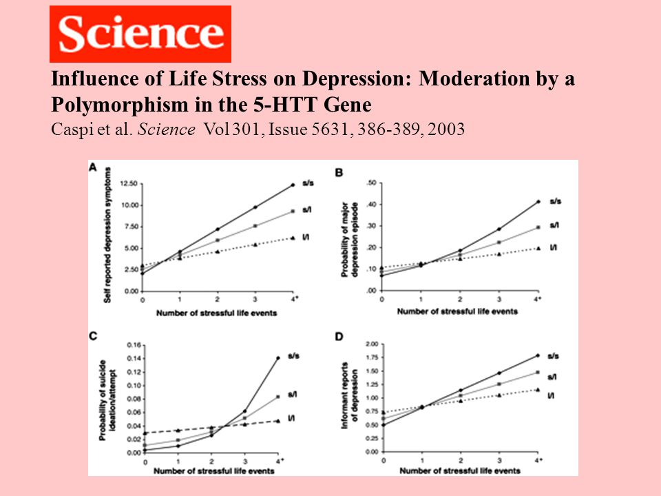 Influence of Life Stress on Depression: Moderation by a Polymorphism in the 5-HTT Gene