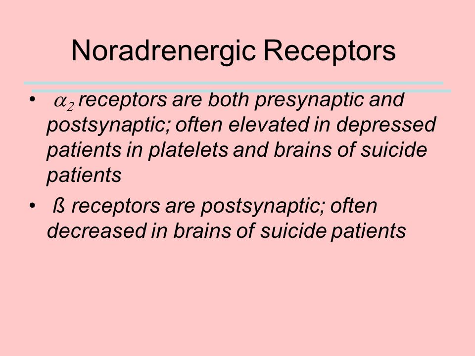 Noradrenergic Receptors