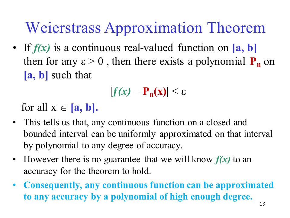 Weierstrass Approximation Theorem