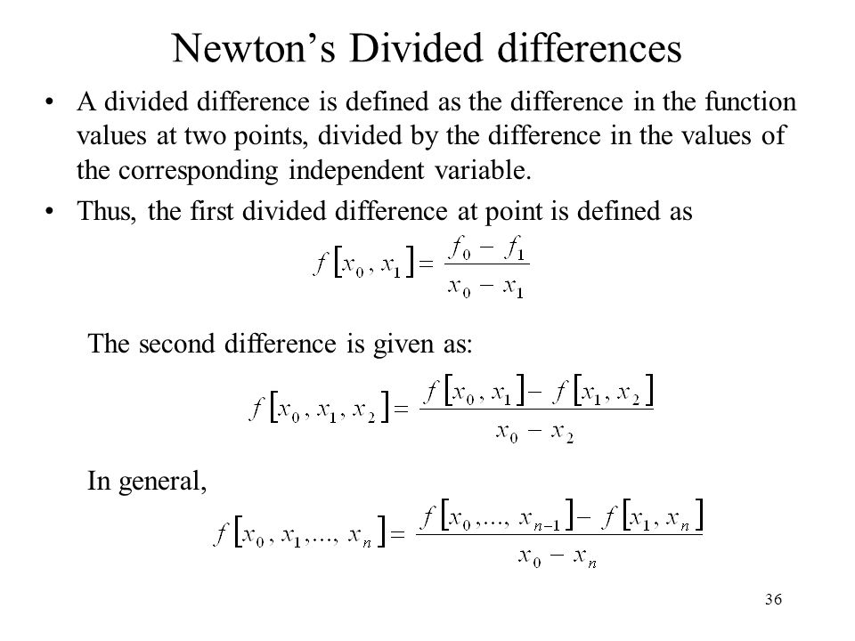 Newton's Divided differences