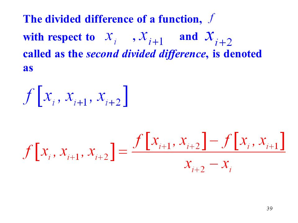 The divided difference of a function,