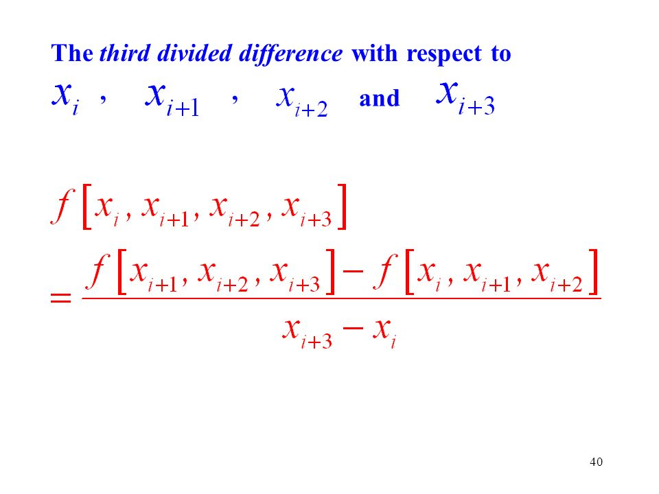 The third divided difference with respect to