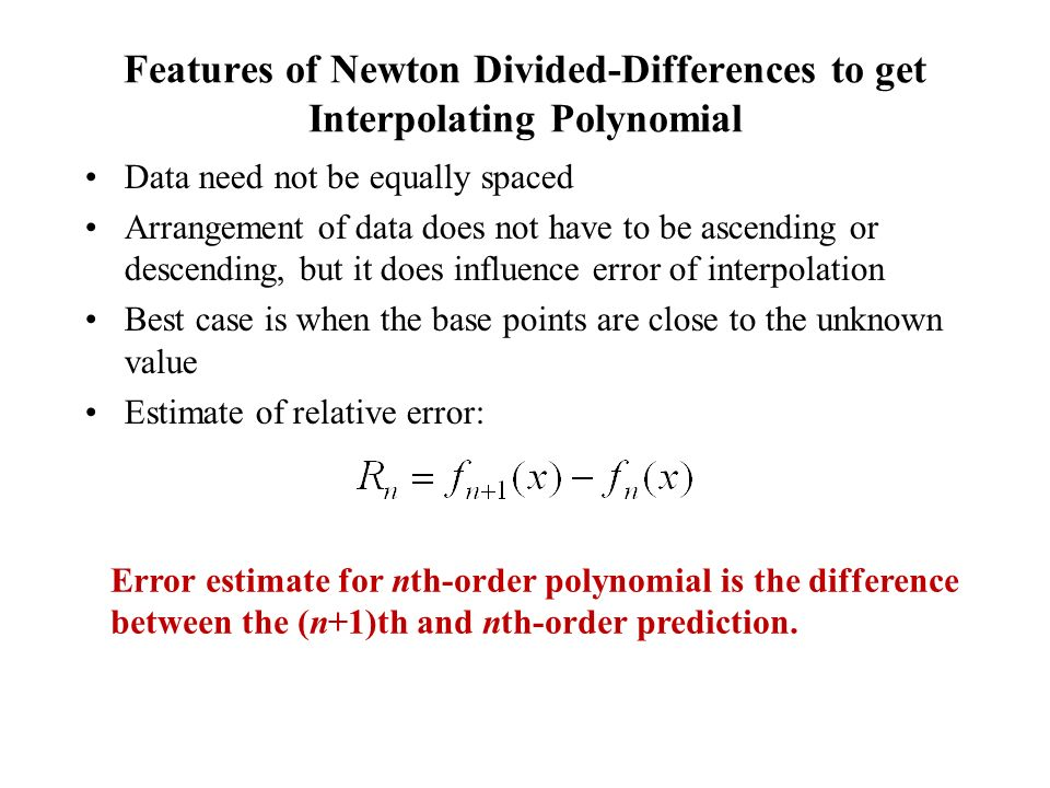 Features of Newton Divided-Differences to get Interpolating Polynomial