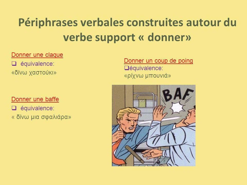 Périphrases verbales construites autour du verbe support « donner»
