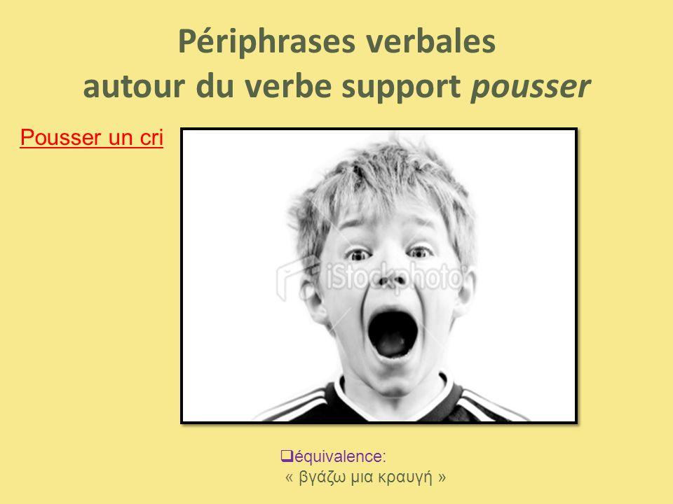 Périphrases verbales autour du verbe support pousser