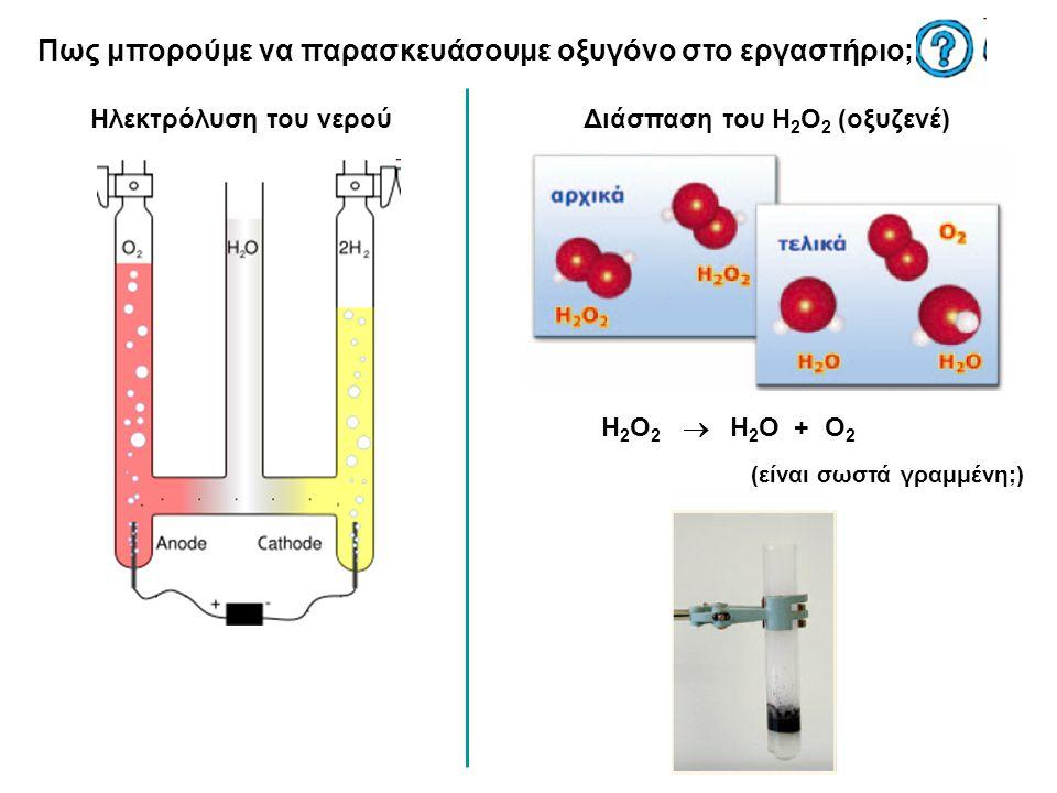 Πως μπορούμε να παρασκευάσουμε οξυγόνο στο εργαστήριο;