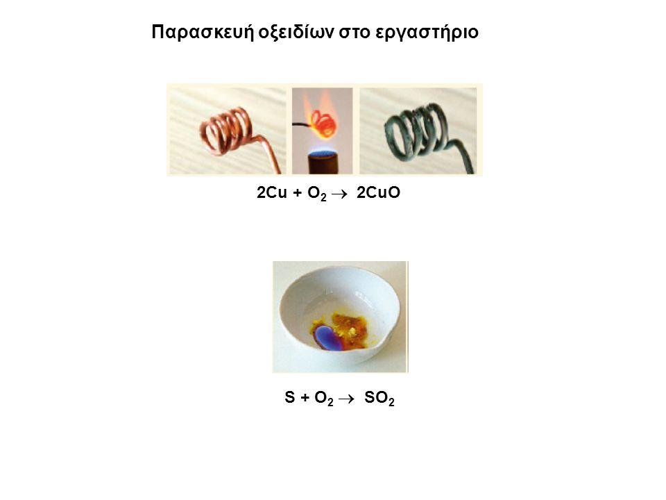 Παρασκευή οξειδίων στο εργαστήριο