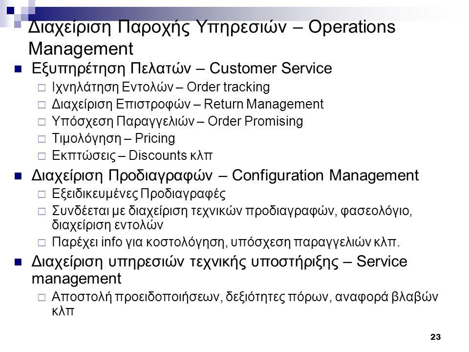 Διαχείριση Παροχής Υπηρεσιών – Operations Management
