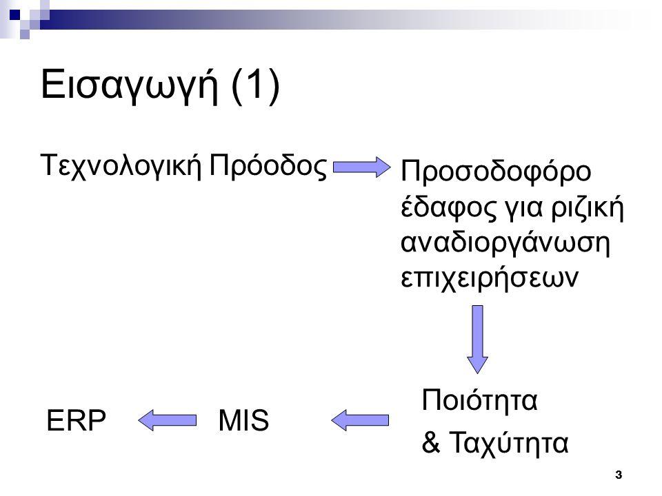 Εισαγωγή (1) Τεχνολογική Πρόοδος