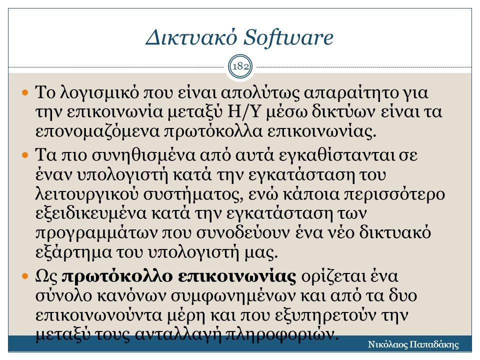 Δικτυακό Software